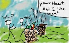 Cain learns god hates veggies, and him.