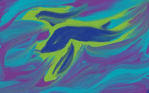 blue fighting fish